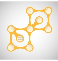 abstract yellow figure on a white background vector image