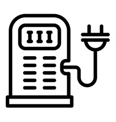 Accessible charging station icon outline style vector