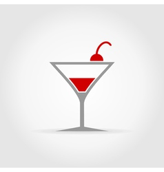 Alcoholic cocktail vector image