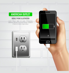 American outlet mobile phone composition vector