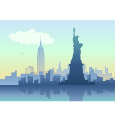 An of New York City skyline vector