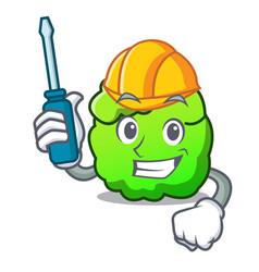 Automotive shrub mascot cartoon style vector