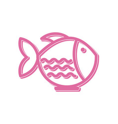bowl fish japan restaurant logo design vector image