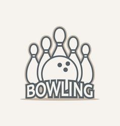 Bowling club logo vector