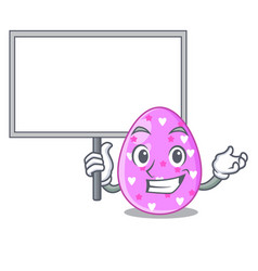 Bring board easter egg cartoon clipping on path vector