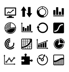 business diagram and infographic icons set vector image
