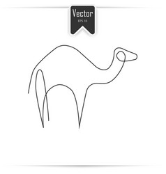 camel one line camel icon in linear style vector image