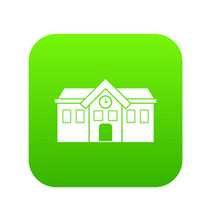 chapel icon digital green vector image