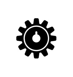 clock gear wheels wheel train icon vector image