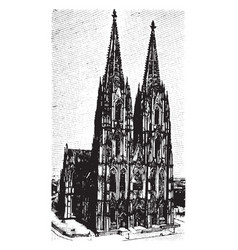 Cologne cathedral klner dom vintage engraving vector