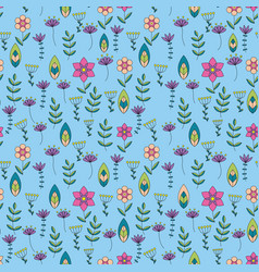 colorful pattern with little flowers vector image