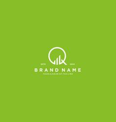 Creative letter q financial chart logo design vector