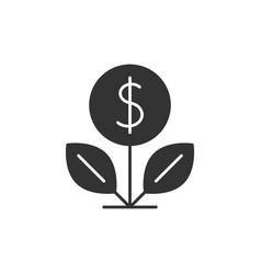 Dollar tree black icon vector