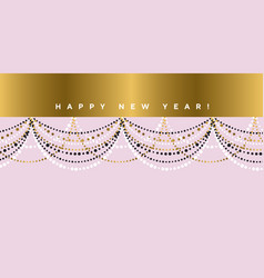 elegant pastel rose garland festive pattern vector image