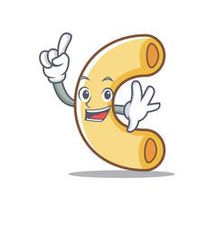 Finger macaroni mascot cartoon style vector