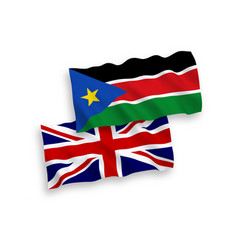 Flags great britain and republic south sudan vector
