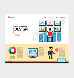 flat infographic design landing page concept vector image