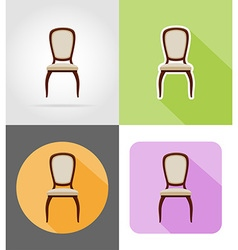 furniture flat icons 35 vector image