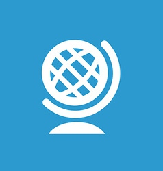 globe icon white on the blue background vector image