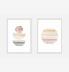 Hand painted watercolor art minimal style design vector