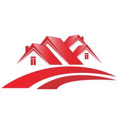 house community neighborhood vector image