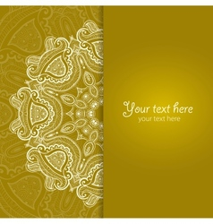Invitation card with lace ornament 3 vector
