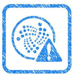 Iota error framed stamp vector