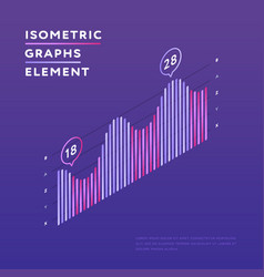 Isometric chart showing statistics vector