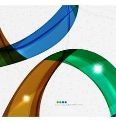 Leaf shape wave abstract background vector