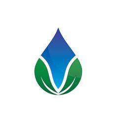 Leaf waterdrop logo image vector