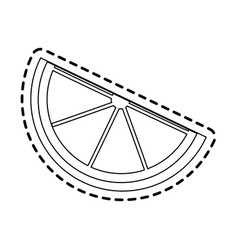Lemon wedge icon image vector