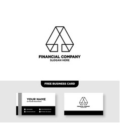 Letter a accounting logo and card vector