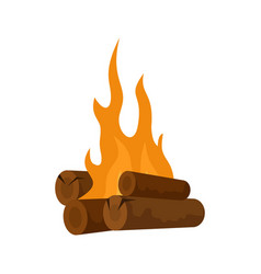 long camp fire icon flat style vector image