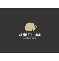 Mammoth silhouette logo Elephant symbol vector
