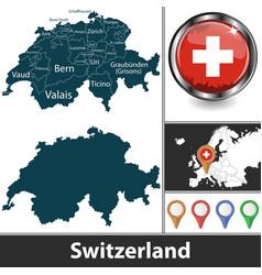 Map switzerland vector