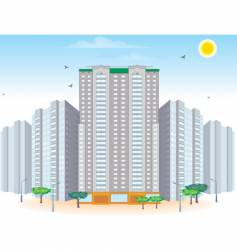 multi-storied buildings vector image