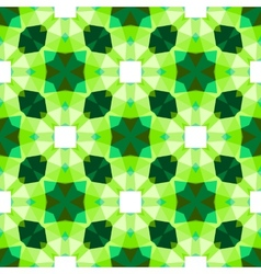 Multicolor geometric pattern in bright green vector image