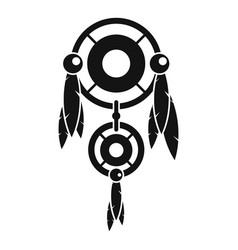 Native american dreamcatcher icon simple style vector