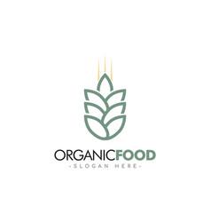 Organic food logo template design vector