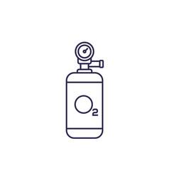 Oxygen tank line icon vector