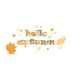 Phase hello autumn vector