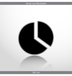 pie chart web flat icon vector image