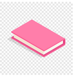 Pink book isometric icon vector