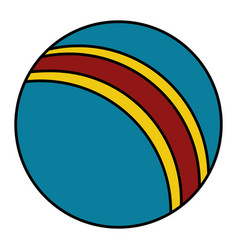 plastic balloon isolated icon vector image
