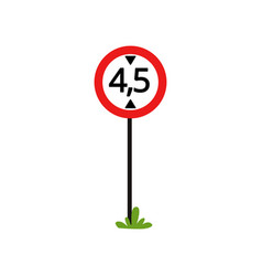prohibition sign the movement of vehicles over 45 vector image