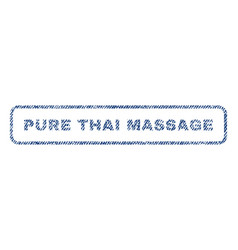 pure thai massage textile stamp vector image