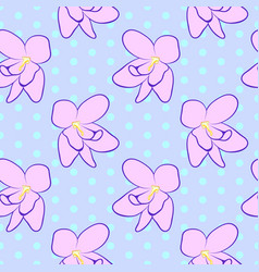 seamless floral pattern with pink violet flowers vector image