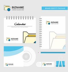 Shared folder logo calendar template cd cover vector