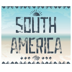 South america background vector