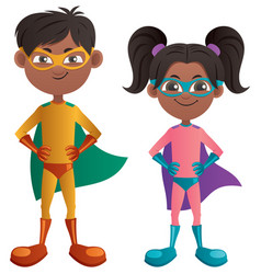 super kids indian vector image